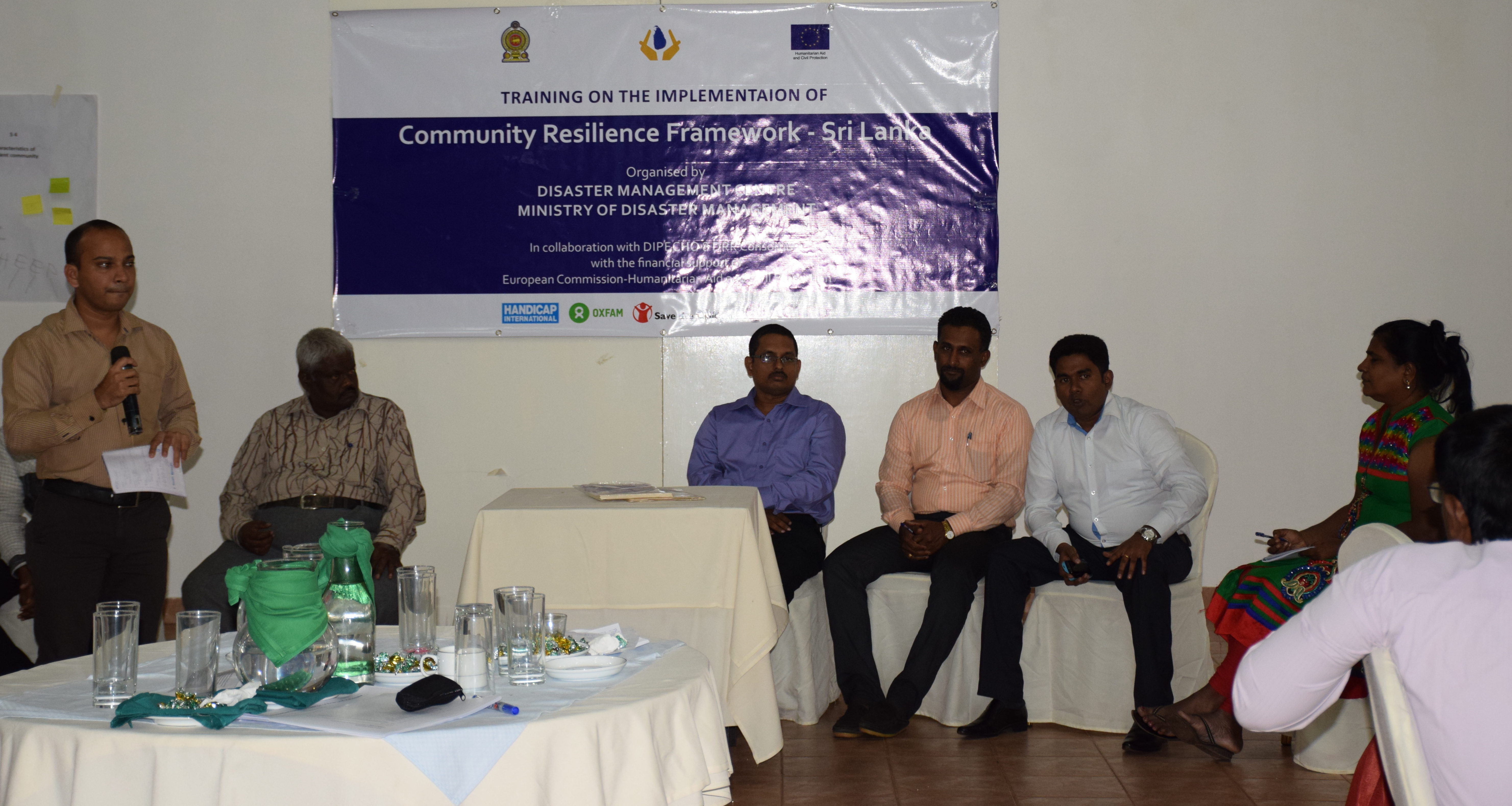 Training govt officials on resilience